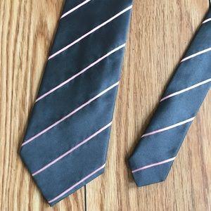 Calvin Klein Collection Striped Italian Silk Tie